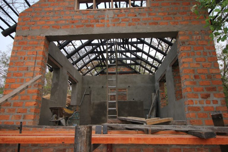 Construction of new chalet at Wasa Lodge